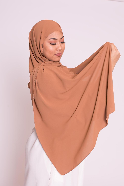 Hijab easy prêt à enfiler camel