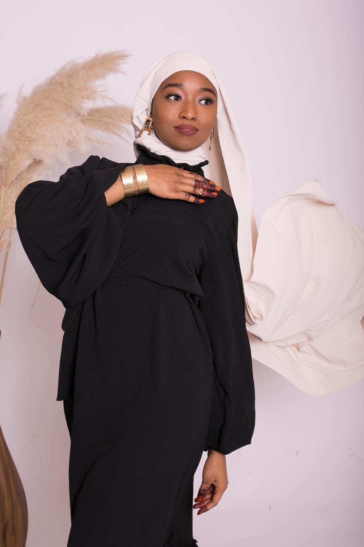 Hijab easy prêt à enfiler beige