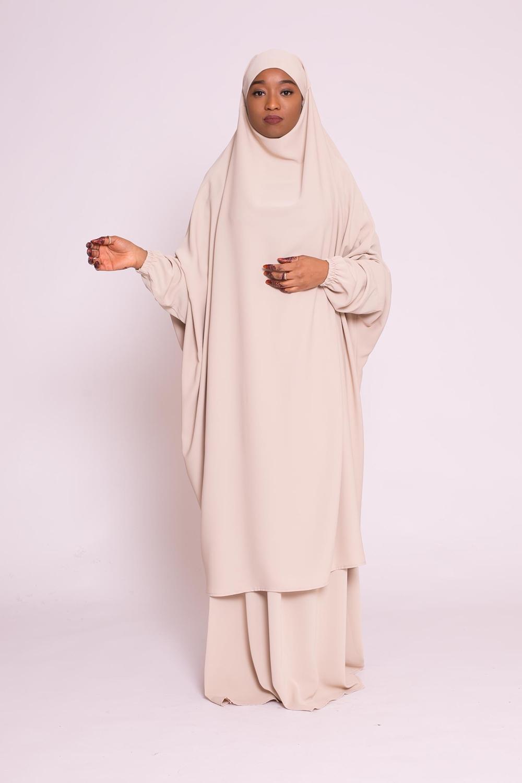 Jilbab 2pièces beige