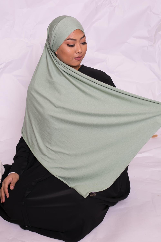 Hijab jersey luxe soft prêt à nouer vert pastel