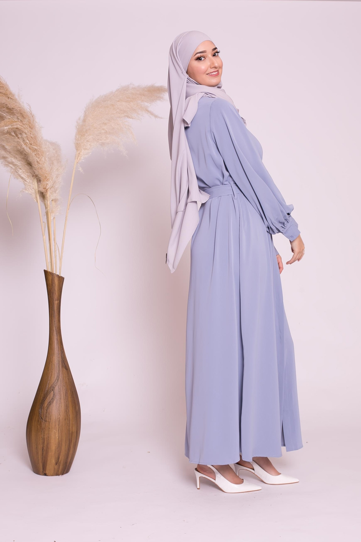 Robe chemise large bleu pastel