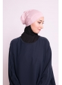 Bonnet tube double face rose clair boutique hijab