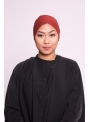 Bonnet tube double face brique marroné sous hijab boutique musulmane