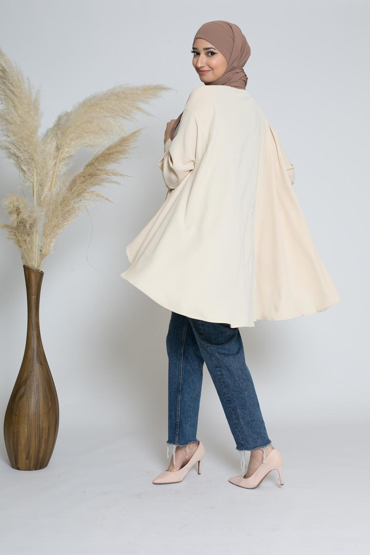 chemise oversize crème
