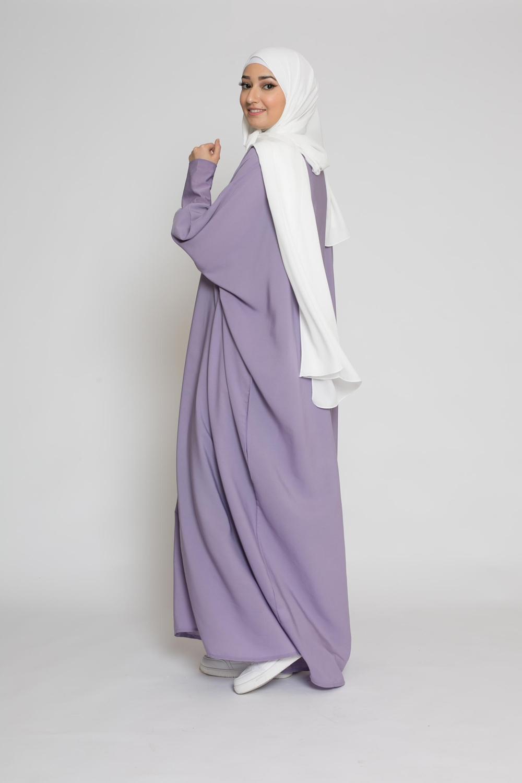 Abaya saoudienne lilas