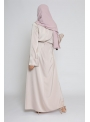 Abaya luxery satiné nude boutique hijab classe pour femme musulmane