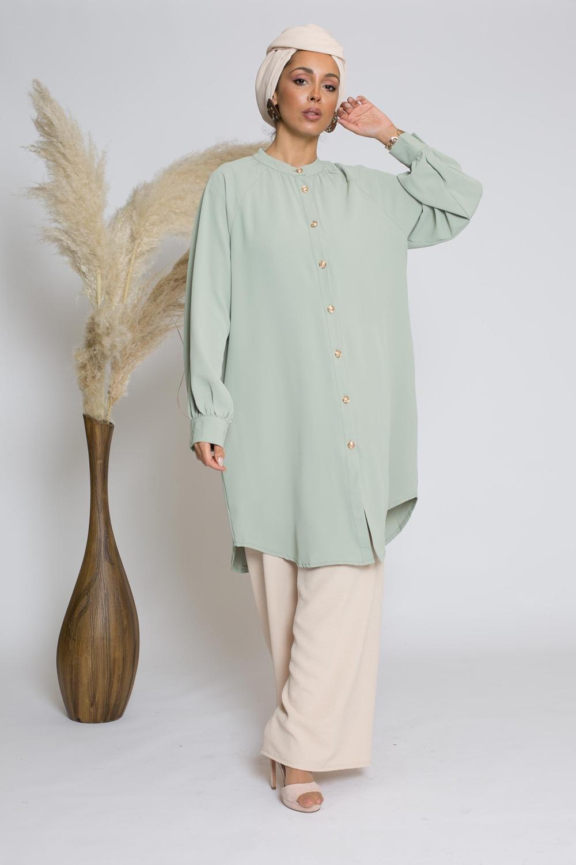 Tunique chemise amande