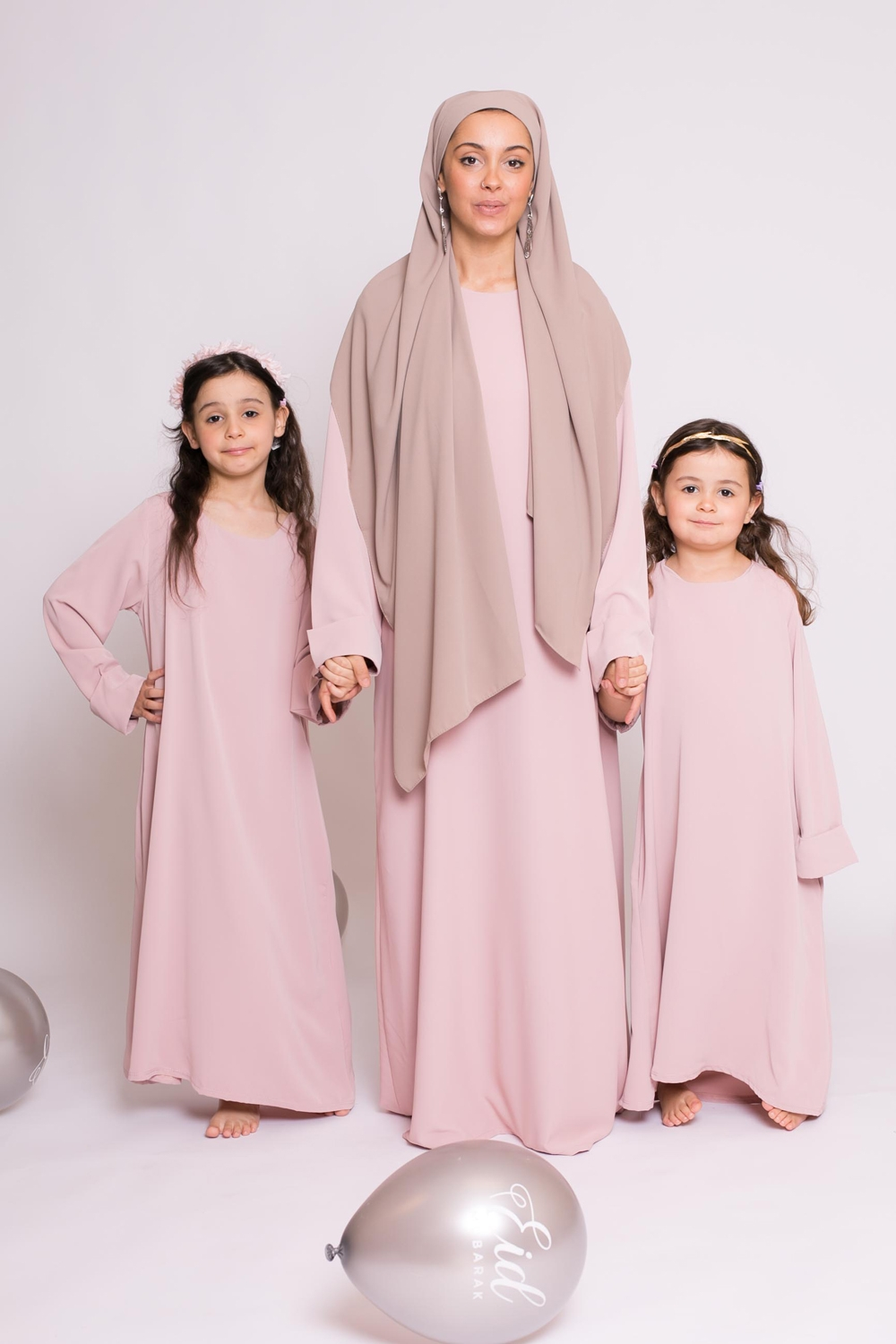 Abaya casual rose poudré nouvelle collection femme musulmane boutique moderne