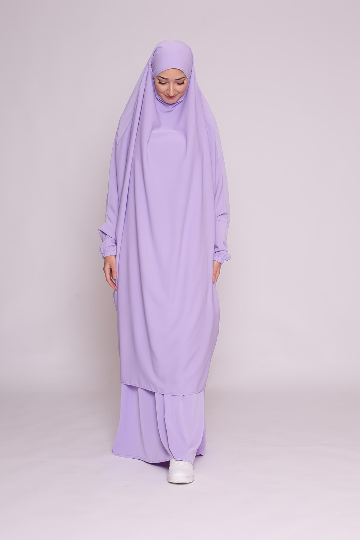 Jilbab 2pièces lilas
