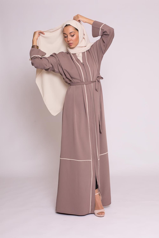 Abaya kiya taupe