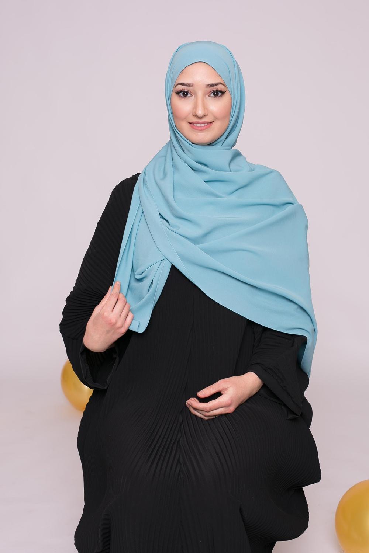 Hijab soie de médine vert saphir