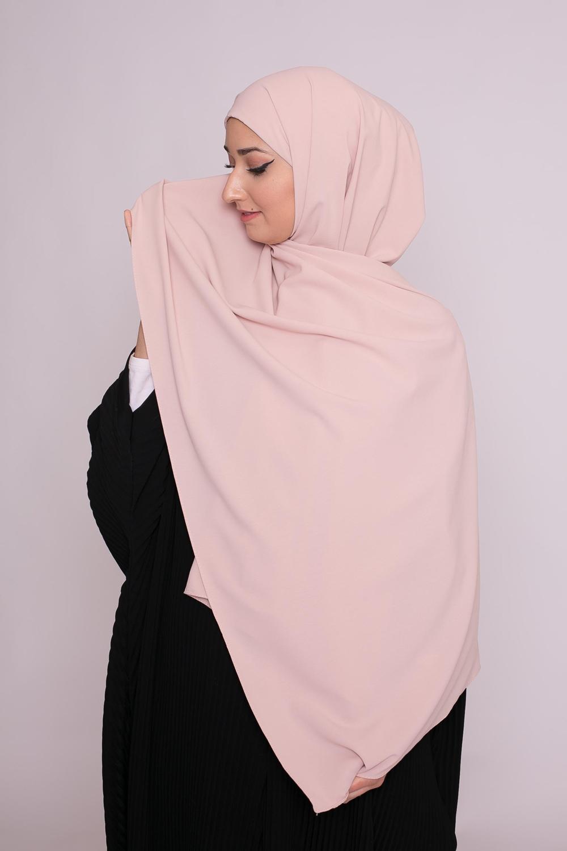 Hijab easy prêt à enfiler rose poudré