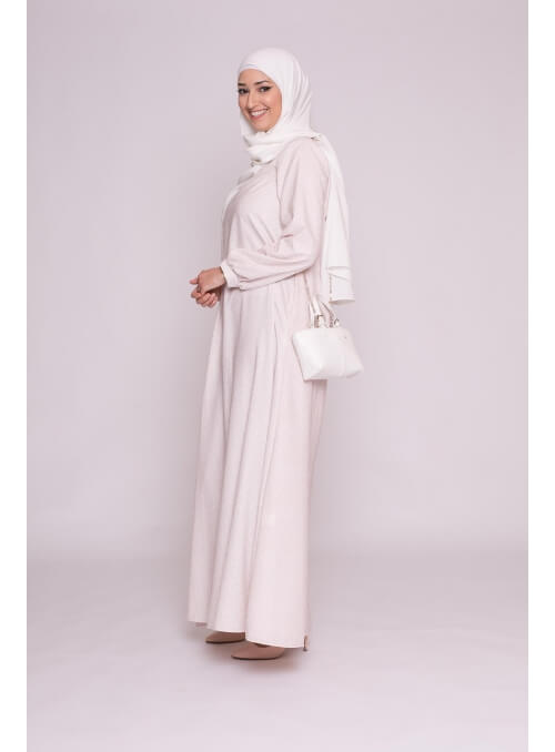 Robe warda nude collection été boutique hijab femme musulmane
