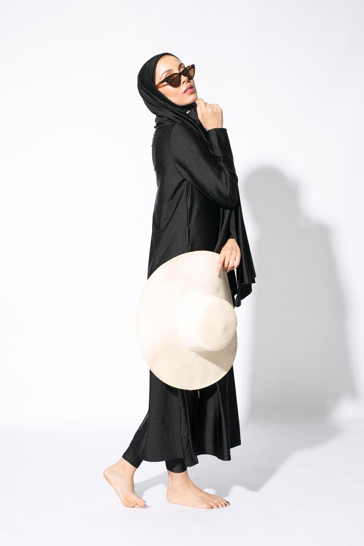 Burkini hijab long noir
