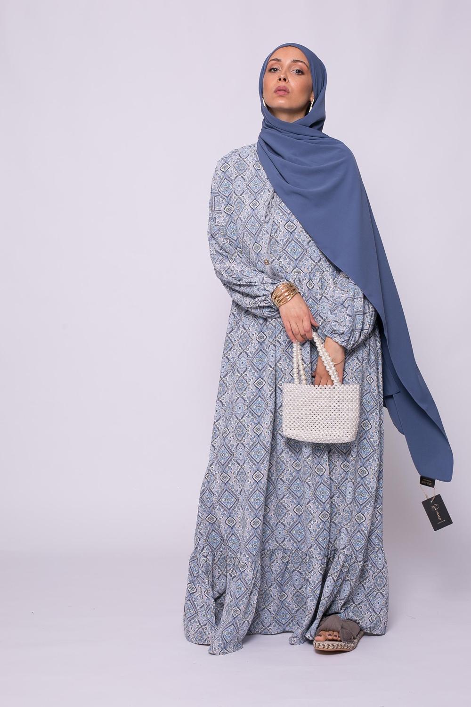Robe imprimé bohème bleu