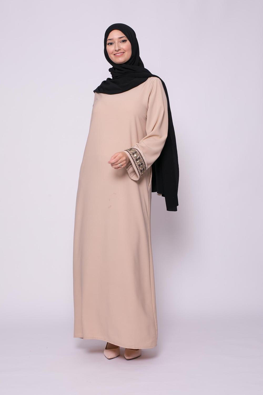 Abaya brada beige