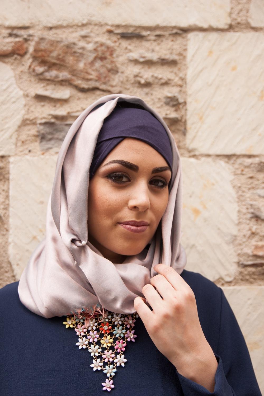 foulard de soie haute qualit de couleur rose pastel pour femmes musulmanes. Black Bedroom Furniture Sets. Home Design Ideas