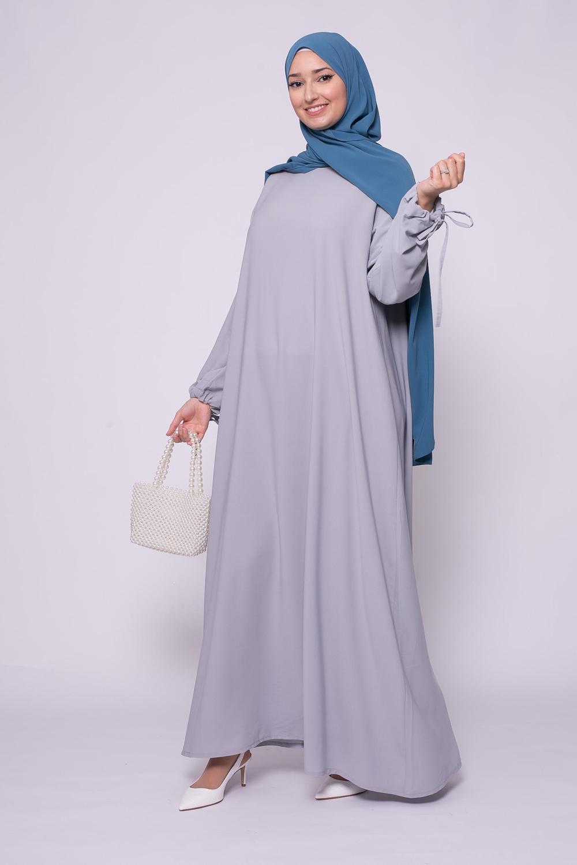 Abaya médina gris