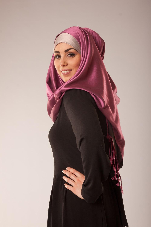 Hijab PRENIUM parme