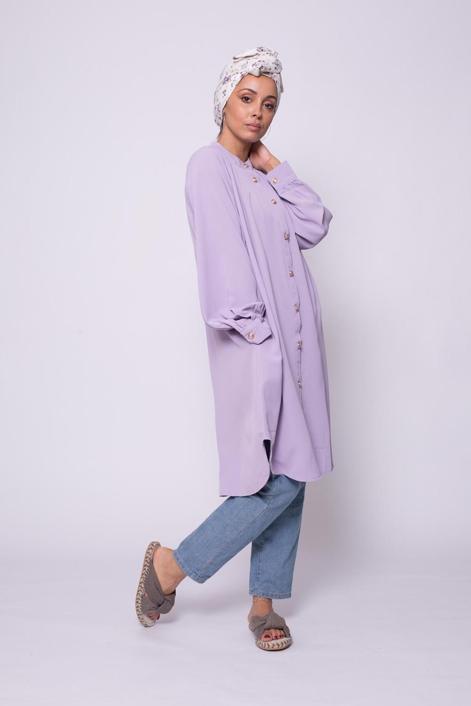 Tunique chemise lilas