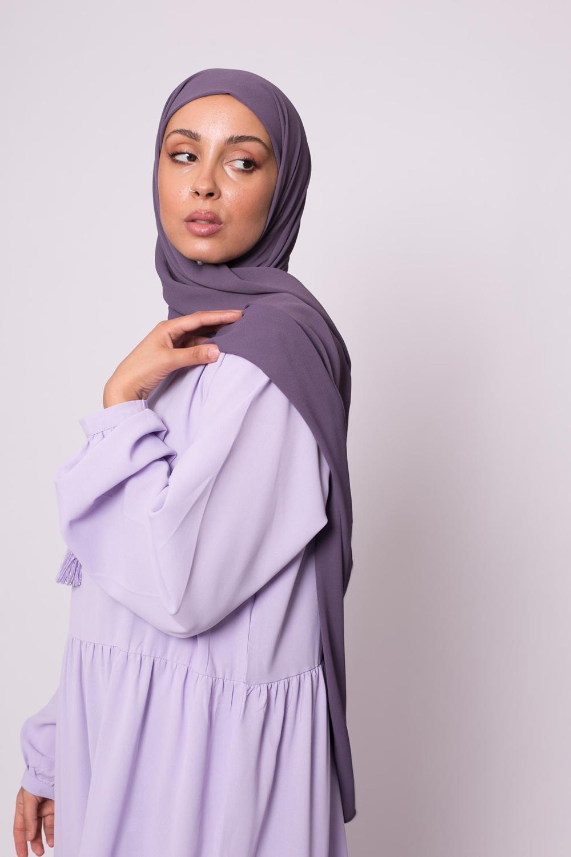 Hijab premium violet foncé