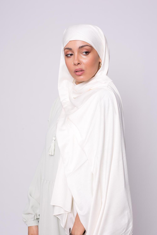 Maxi hijab jersey écru