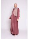 Abaya luxery satiné terre cuite