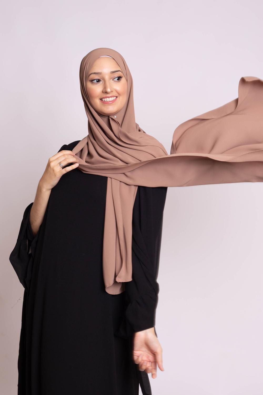 Hijab soie de médine cofee