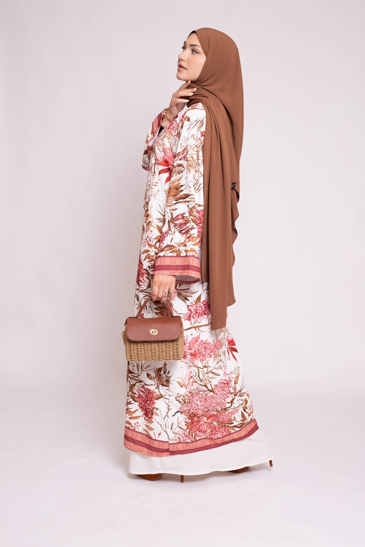 Kimono imprimé terre cuite