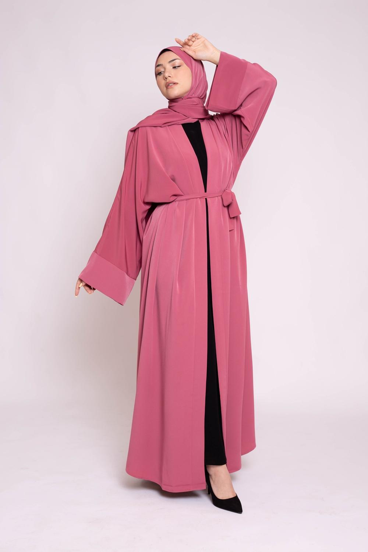 Ensemble kimono hijab terre cuite