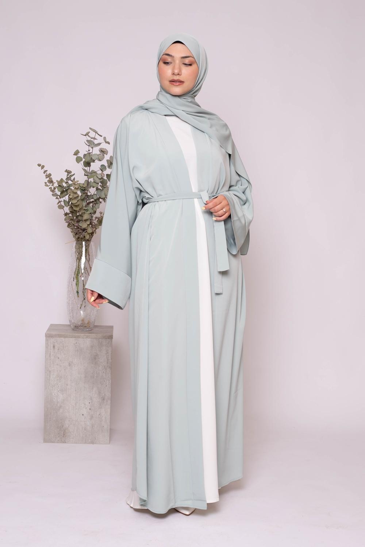 Ensemble kimono hijab vert eau