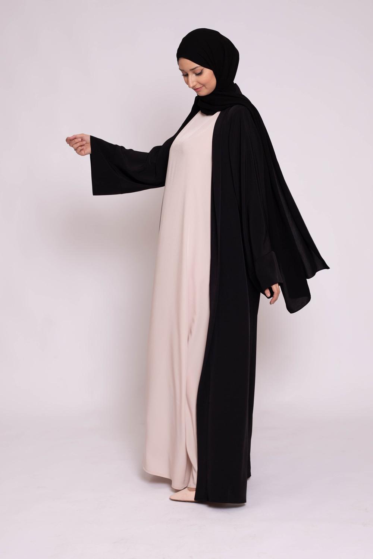 Ensemble kimono hijab noir