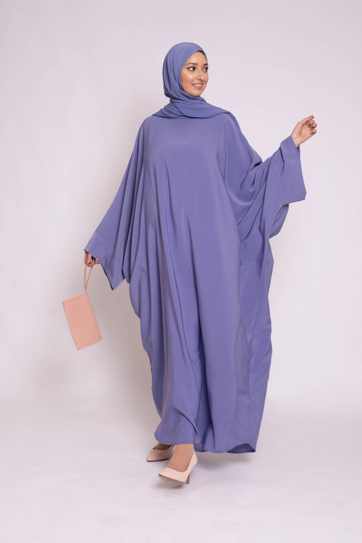 Ensemble Abaya hijab kristal denim