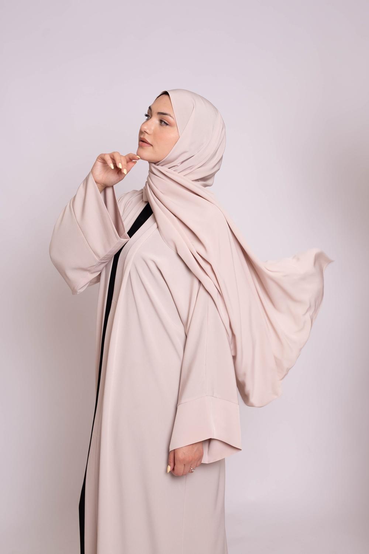 Hijab kristal nude