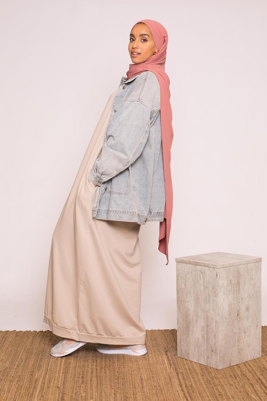 Abaya sweat loose beige