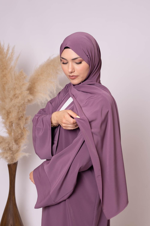 Hijab kristal lilas foncé