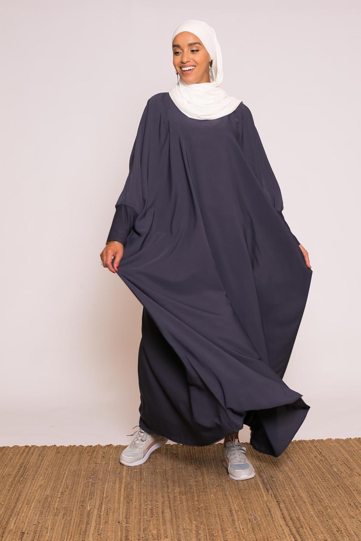 Abaya saoudienne bleu