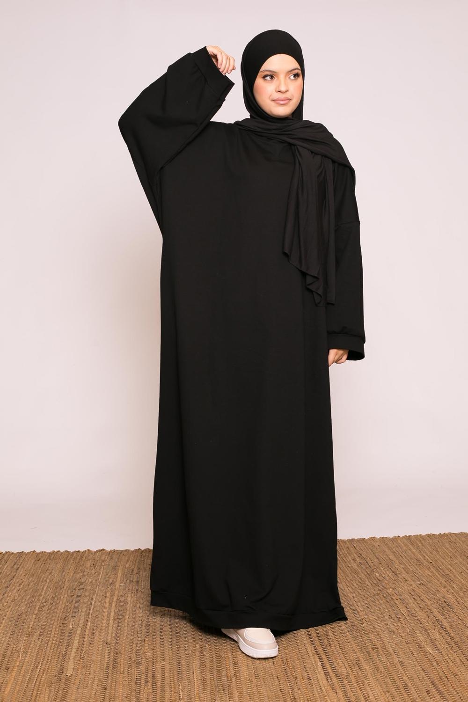 Abaya sweat loose noir