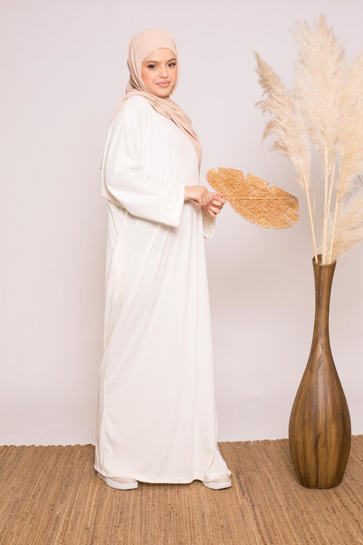 Abaya oversize écru