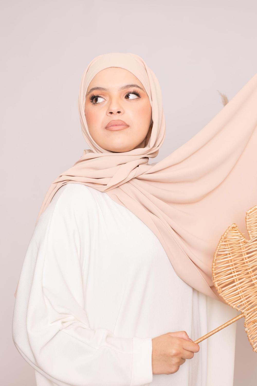 Hijab easy prêt à enfiler nude