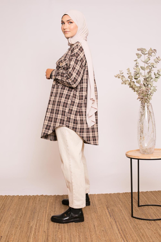 Chemise d'hiver à carreaux