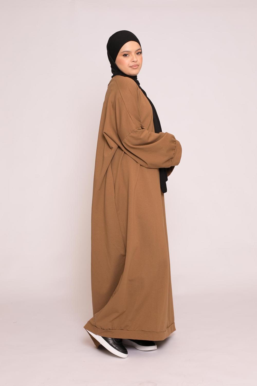 Abaya sweat loose moka