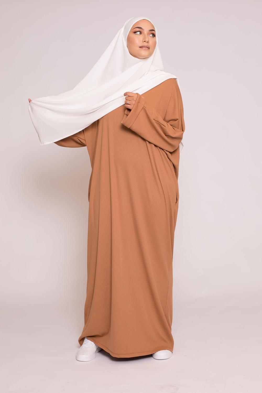 Abaya oversize camel