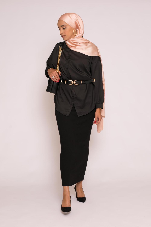 Tunique chemise large noir