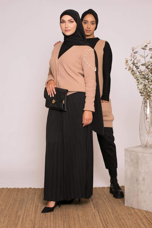 Jupe plissé noir