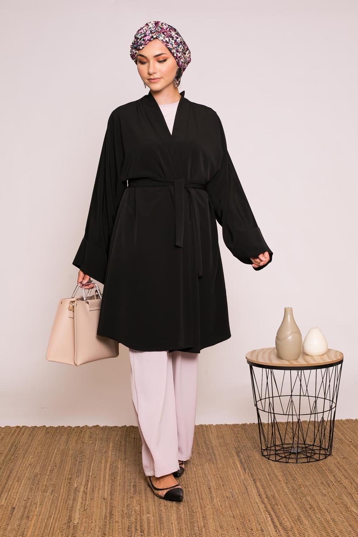 Veste kimono noir