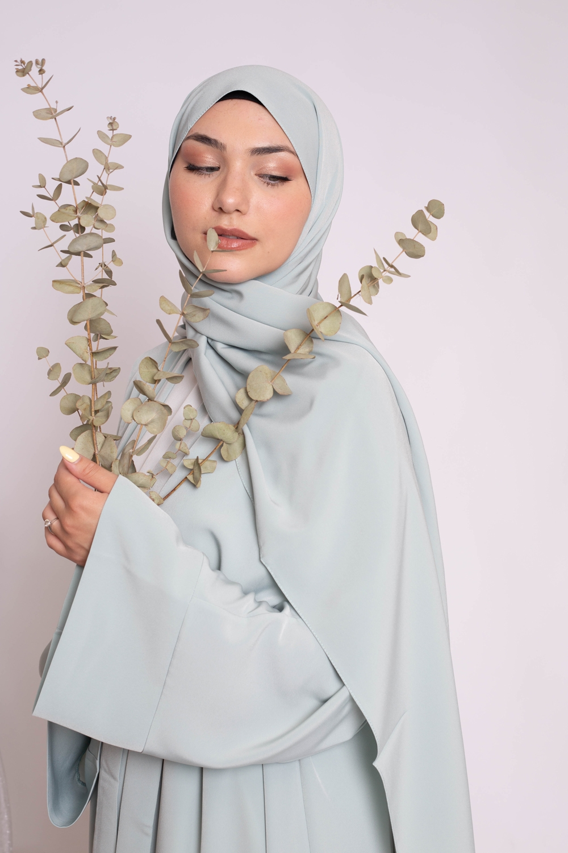 Hijab kristal vert eau