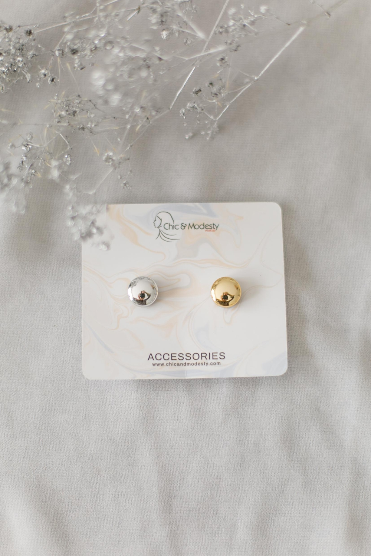CD clips magnétiques brillants argent/doré