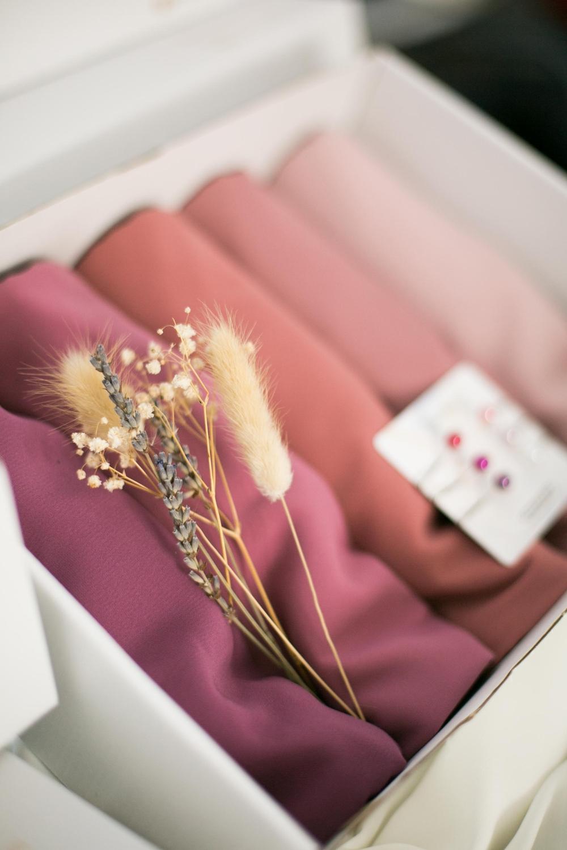 Box 5 soie de médine pink