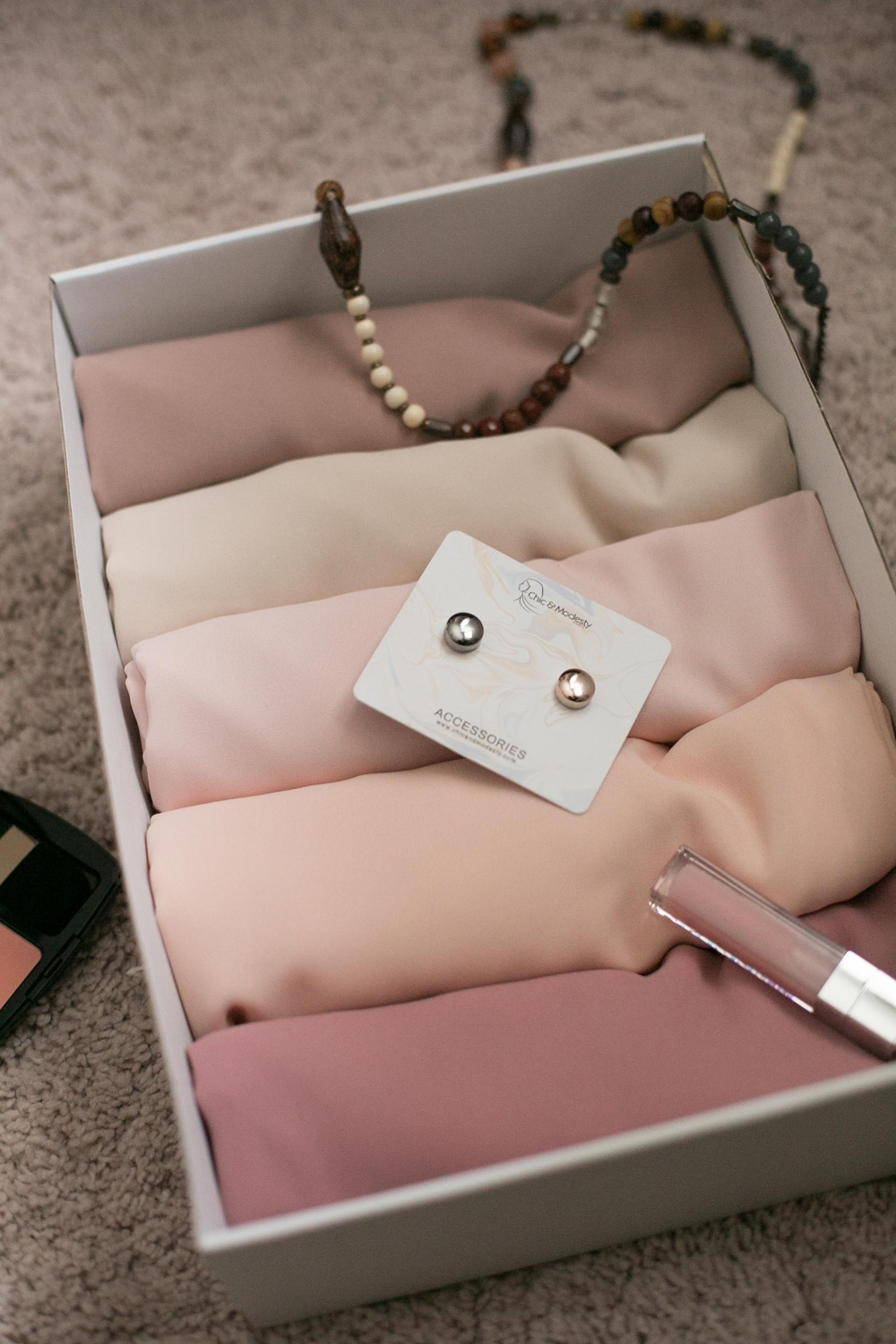 Box 5 luxe mousseline nude